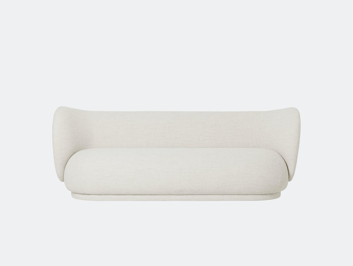Ferm Living Rico 3 Seater Sofa Off White Boucle