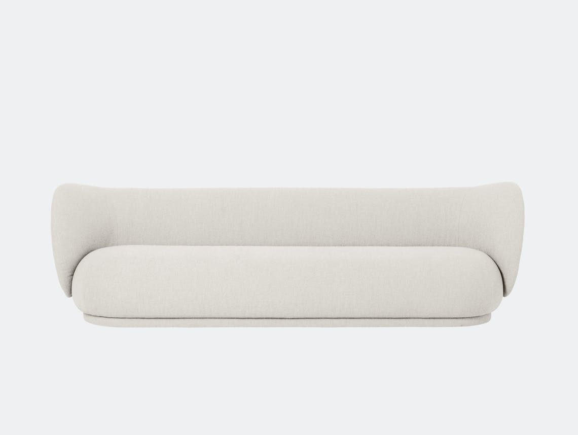 Ferm Living Rico 4 Seater Sofa Off White Boucle