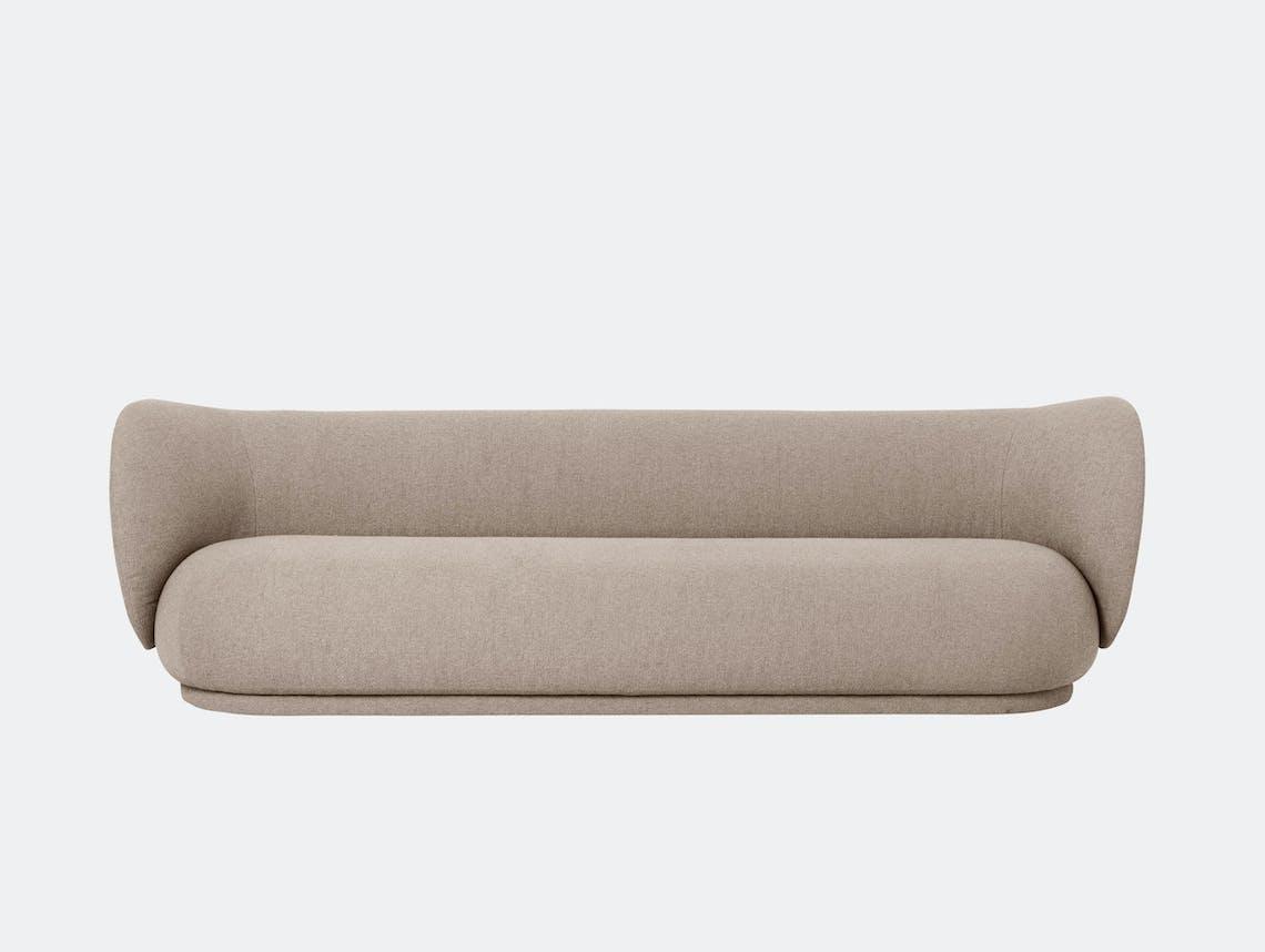 Ferm Living Rico 4 Seater Sofa Sand Boucle