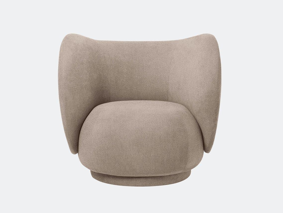 Ferm Living Rico Lounge Chair Sand Boucle