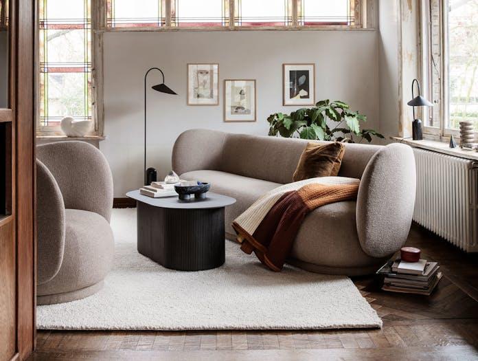 Ferm Living Rico Lounge Chair Sofa Sand Boucle