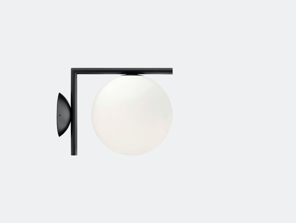 Flos Ic Ceiling Wall Light Cw1 Black Michael Anastassiades