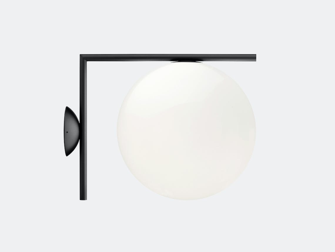 Flos Ic Ceiling Wall Light Cw2 Black Michael Anastassiades