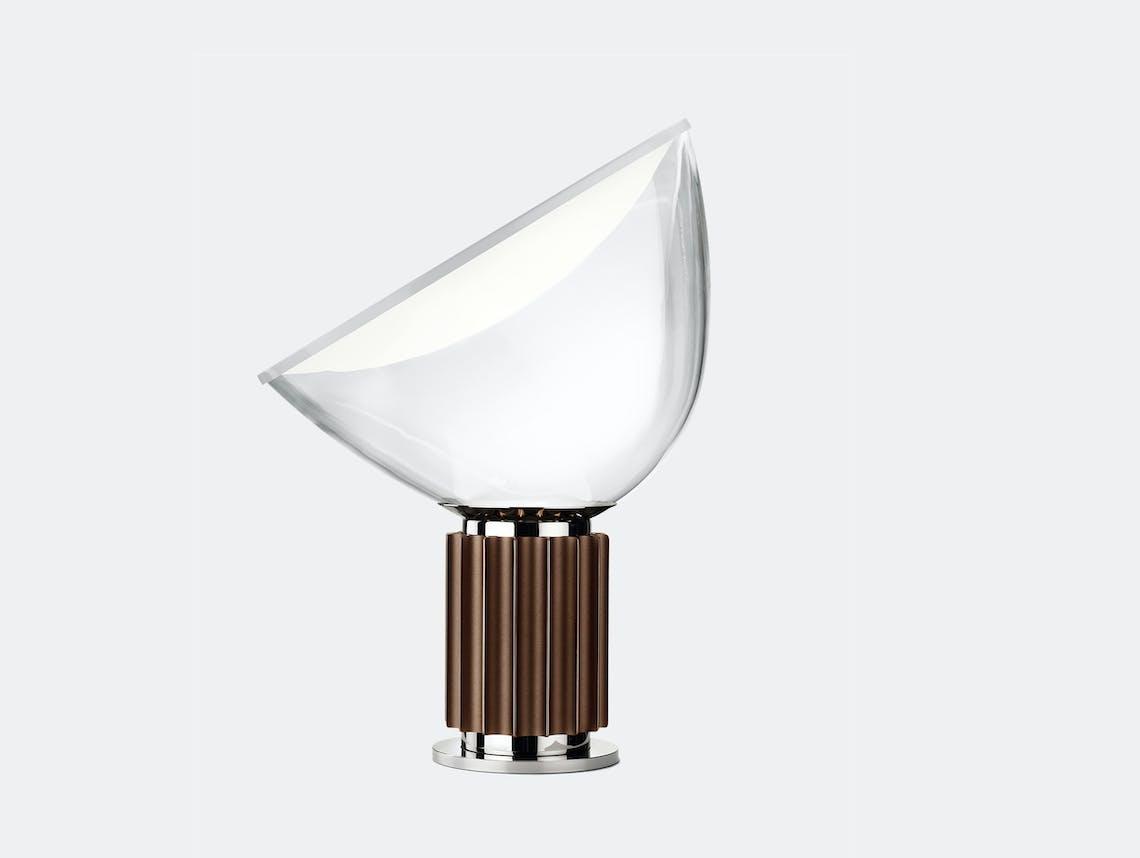 Flos Taccia Table Lamp Brown Large Achille Pier Giacomo Castiglioni