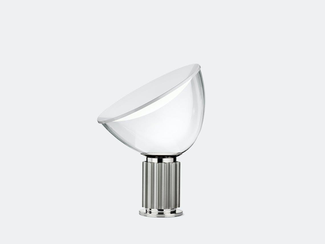 Flos Taccia Table Lamp Small Silver Achille Pier Giacomo Castiglioni