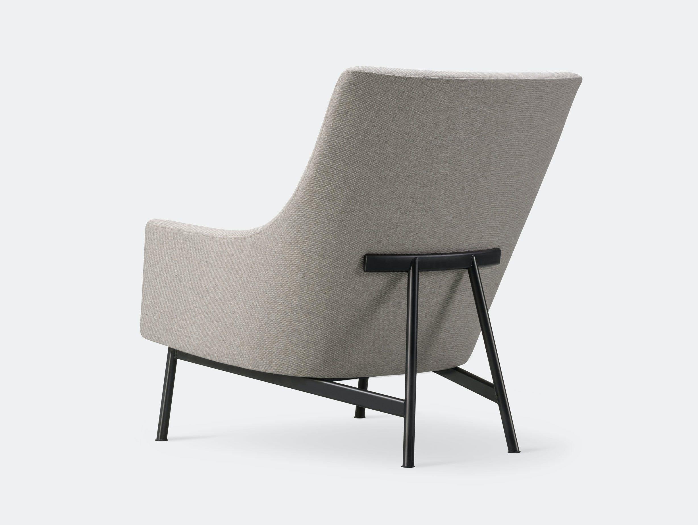 Fredericia A Chair Metal Base Jens Risom