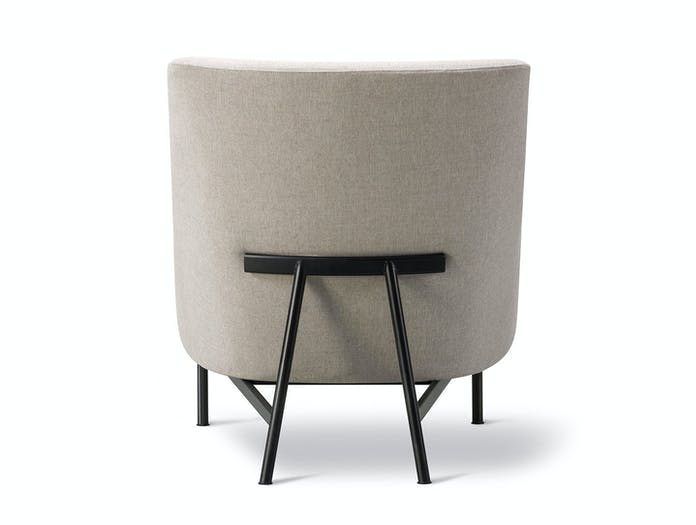 Fredericia A Chair Metal Base Back Jens Risom