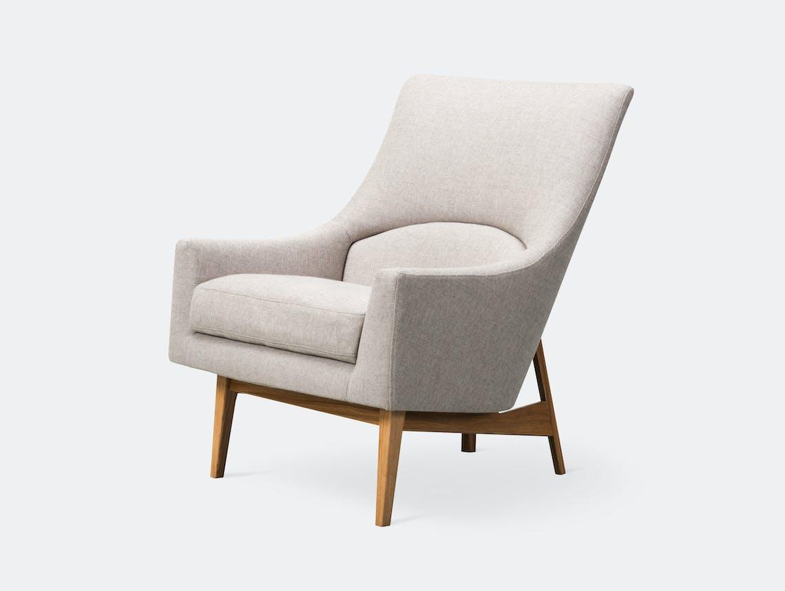 Fredericia A Chair Wood Base Oak Jens Risom