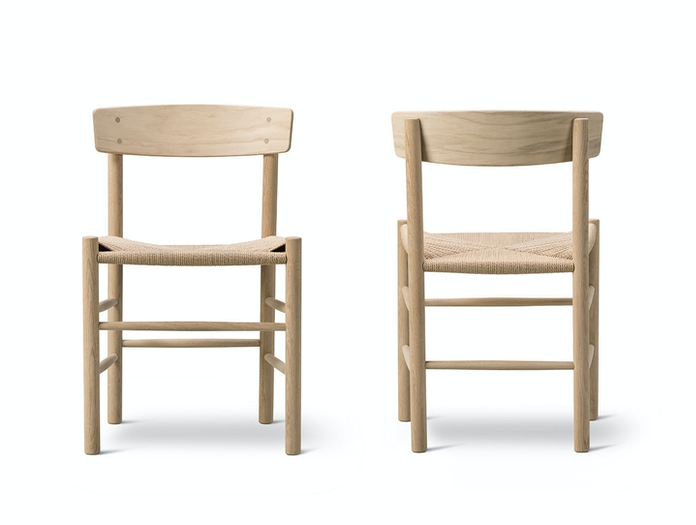 Fredericia J39 The Peoples Chair Front Back Borge Mogensen