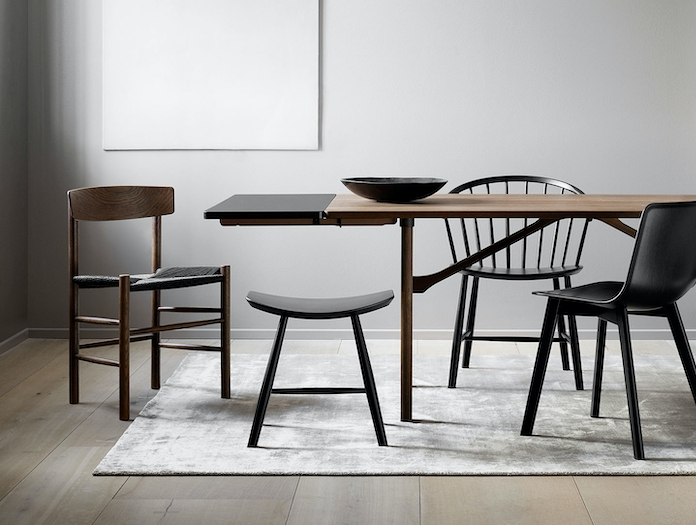 Fredericia J39 The Peoples Chair Smoked Oak Blk Borge Mogensen