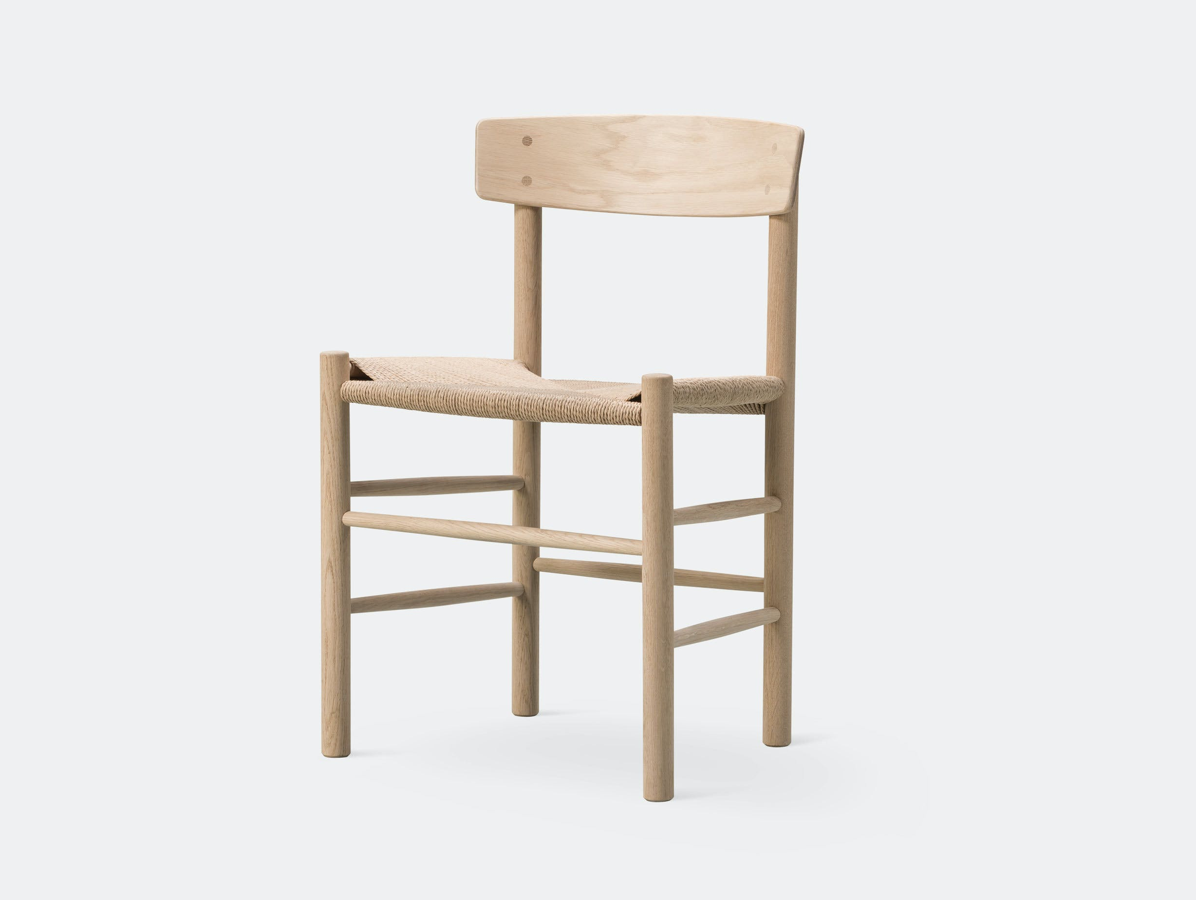 Fredericia J39 The Peoples Chair Soaped Oak Borge Mogensen