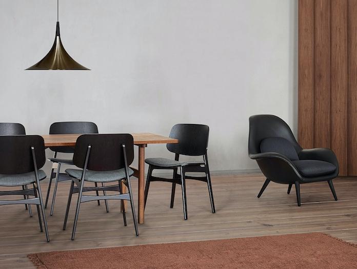 Fredericia Mogensen 6284 Dining Table Soborg Chairs Borge Mogensen