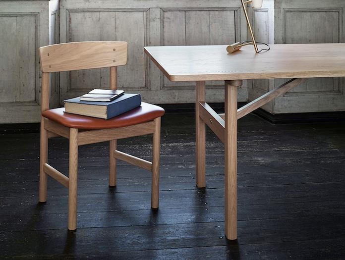 Fredericia Mogensen 6284 Dining Table Oak Detail Borge Mogensen