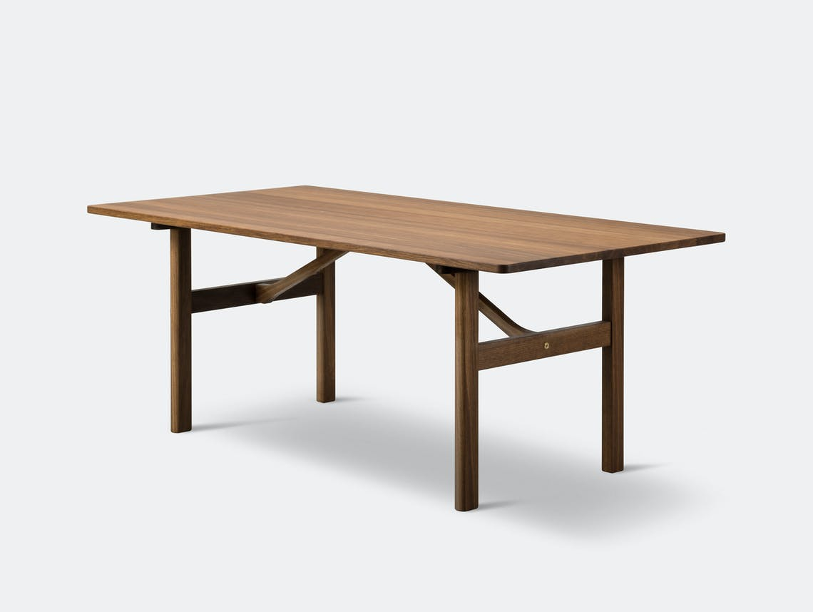 Fredericia Mogensen 6284 Dining Table Smoked Oak Borge Mogensen