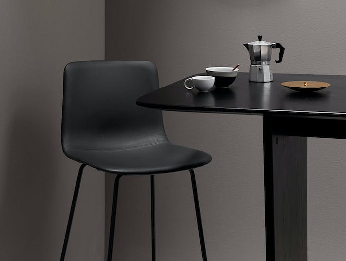 Fredericia Pato Sledge Upholstered Barstool Leather Detail