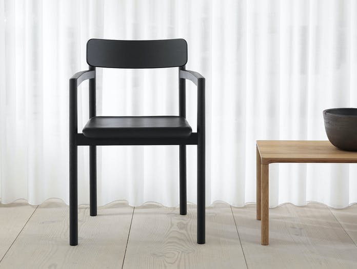Fredericia Post Chair Black Upholstered Cecilie Manz
