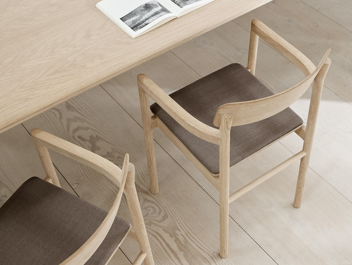 Fredericia Post Chair Oak Upholstered Cecilie Manz