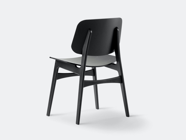Fredericia Soborg Chair Wood Base Black Oak Borge Mogensen