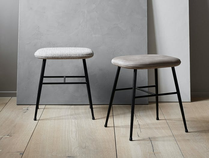 Fredericia Spine Low Stools Metal Base Space Copenhagen