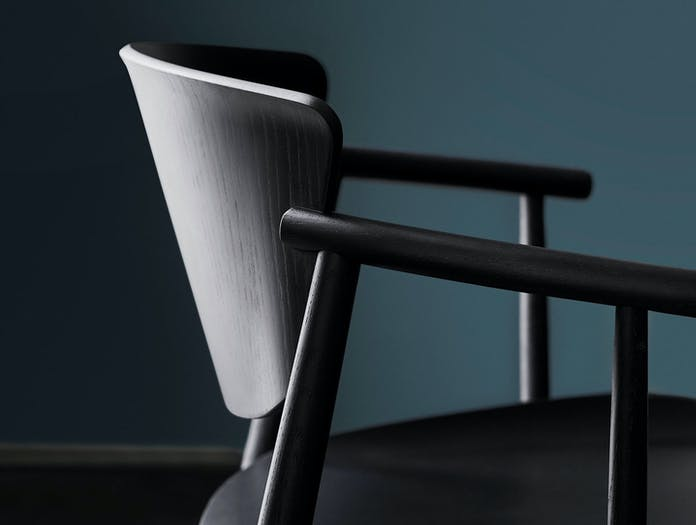 Fritz Hansen N01 Chair Black Oak Detail Nendo