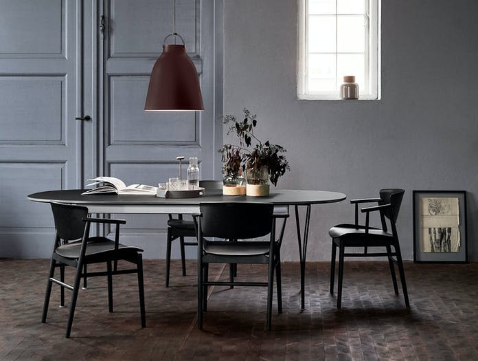 Fritz Hansen N01 Chair Black Oak Dining Nendo