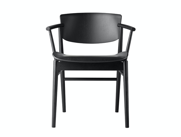 Fritz Hansen N01 Chair Black Oak Front Nendo