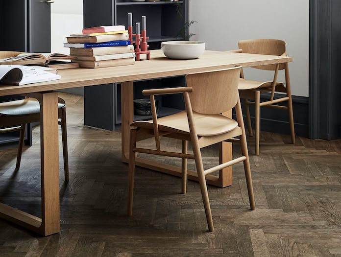 Fritz Hansen N01 Chair Black Oak Library Nendo