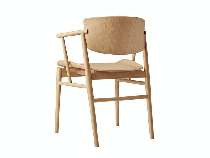 Fritz Hansen N01 Chair Oak Back Nendo