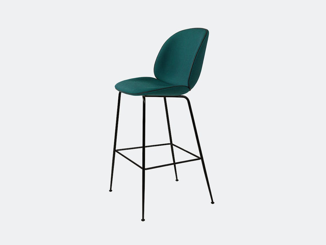 Gubi Beetle Upholstered Bar Stool Canvas 984 Gam Fratesi