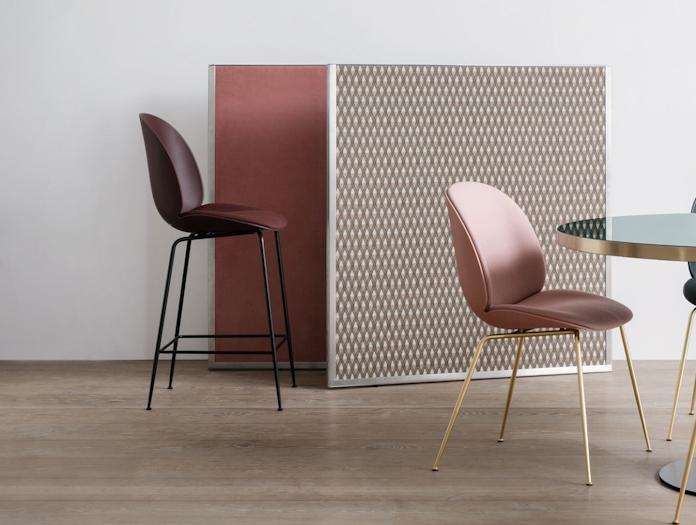 Gubi Beetle Upholstered Barstool Seat Upholstered Gam Fratesi