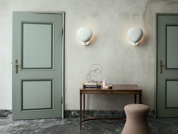 Gubi Cobra Wall Lamp White Pair Greta Grossman