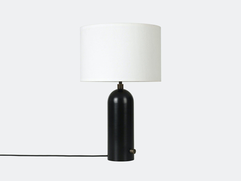 Gubi Gravity Table Lamp Blackened Steel White Shade Space Copenhagen