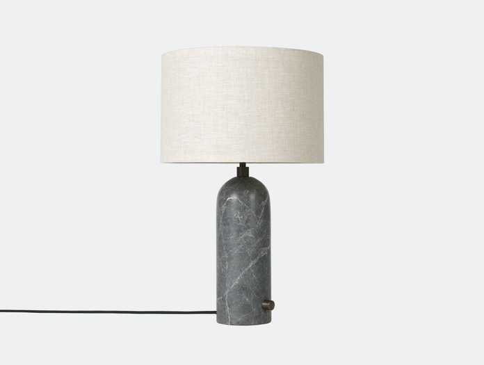 Gubi Gravity Table Lamp Grey Marble Canvas Shade Space Copenhagen