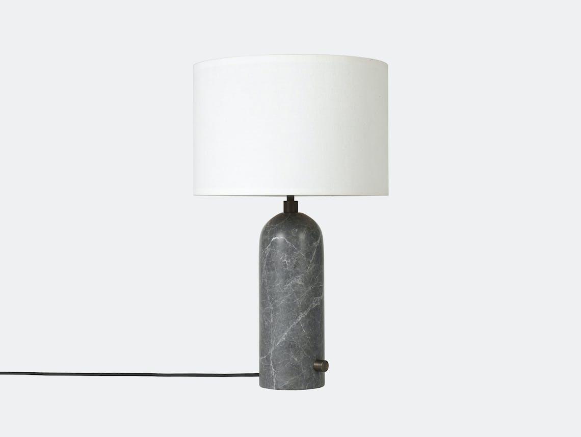 Gubi Gravity Table Lamp Grey Marble White Shade Space Copenhagen