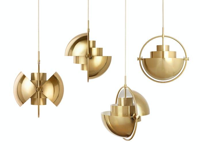 Gubi Multi Lite Pendant Lights Brass