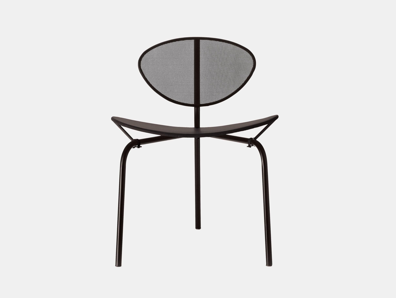 Gubi Nagasaki Dining Chair Black Mathieu Mategot