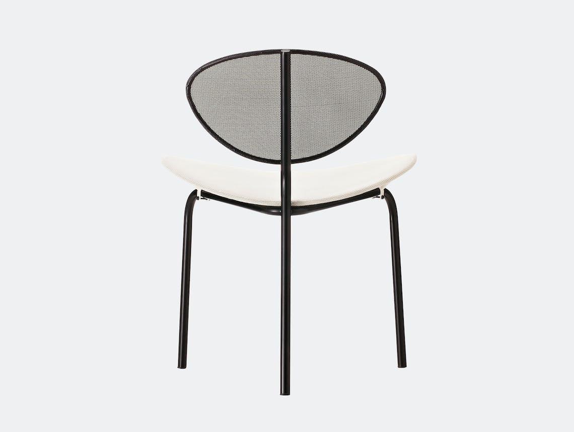Gubi Nagasaki Dining Chair White Black Mathieu Mategot