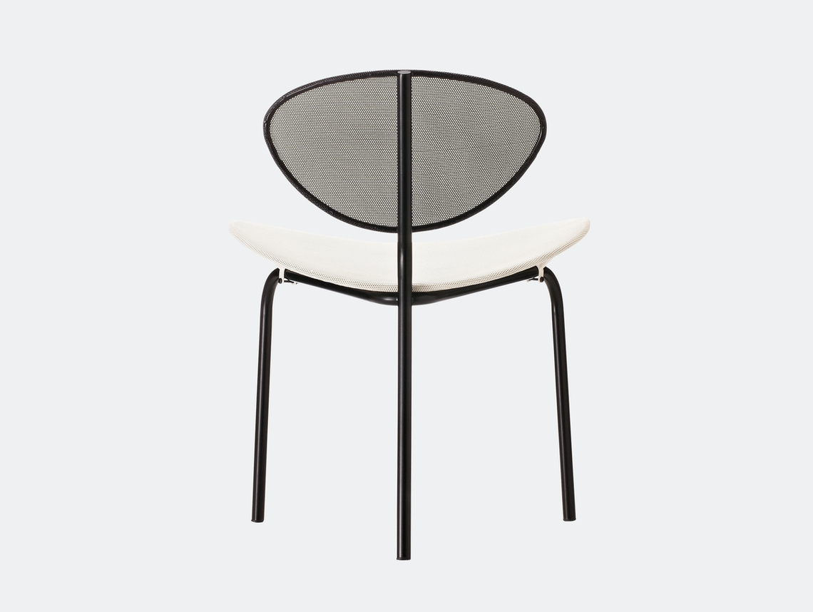 Gubi Nagasaki Dining Chair White Black Mathieu Mategot
