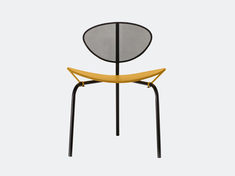 Gubi Nagasaki Dining Chair Yellow Black Mathieu Mategot