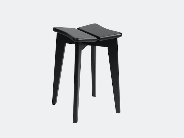 Gubi Trefle Stool Oak Black Stained Marcel Gascoin