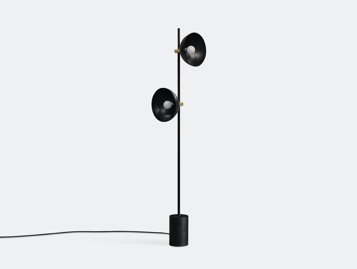 Handvark Studio Floor Lamp Black Brass Laura Bilde