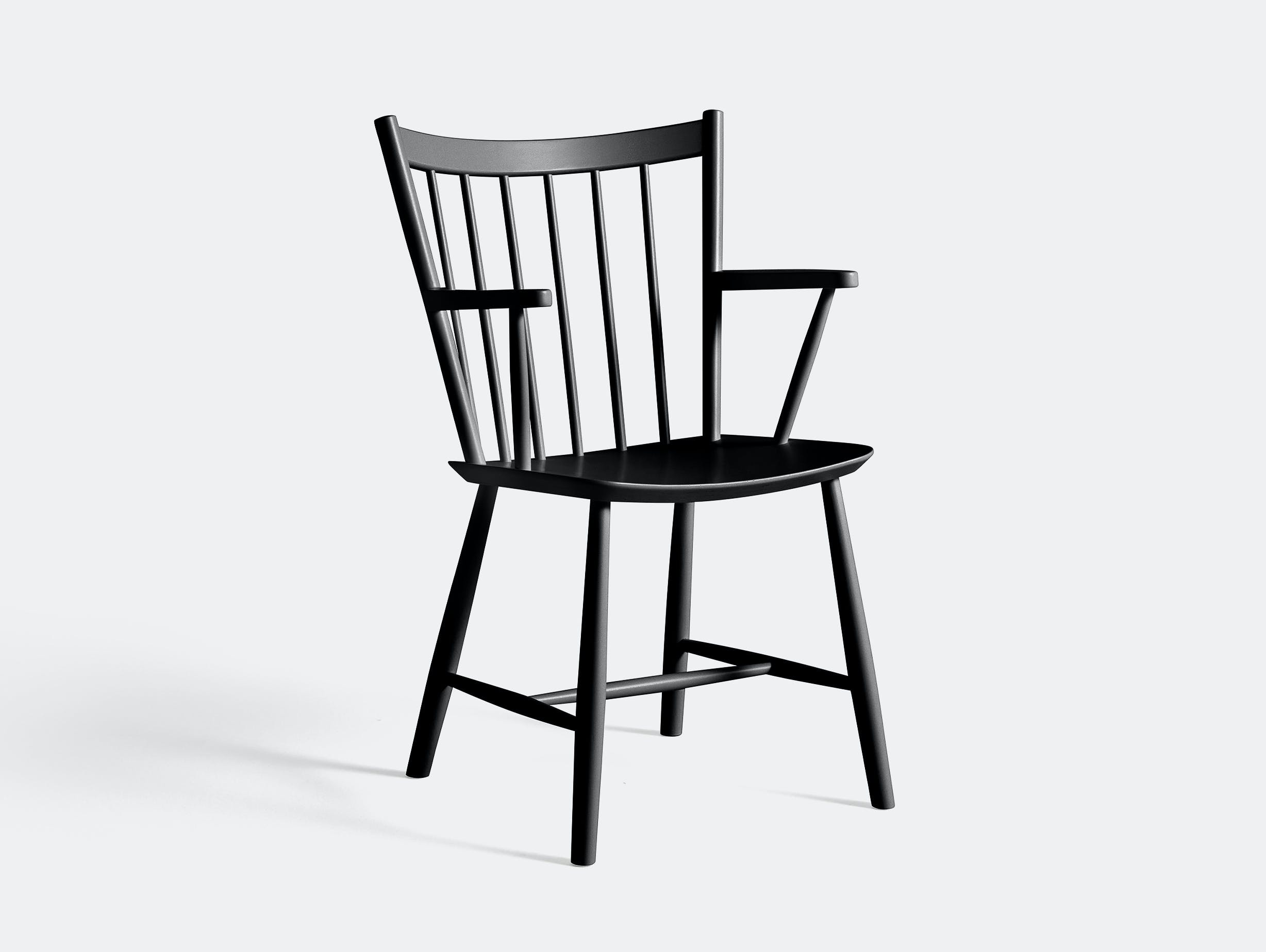 Hay J42 Black Lacquered Beech Chair
