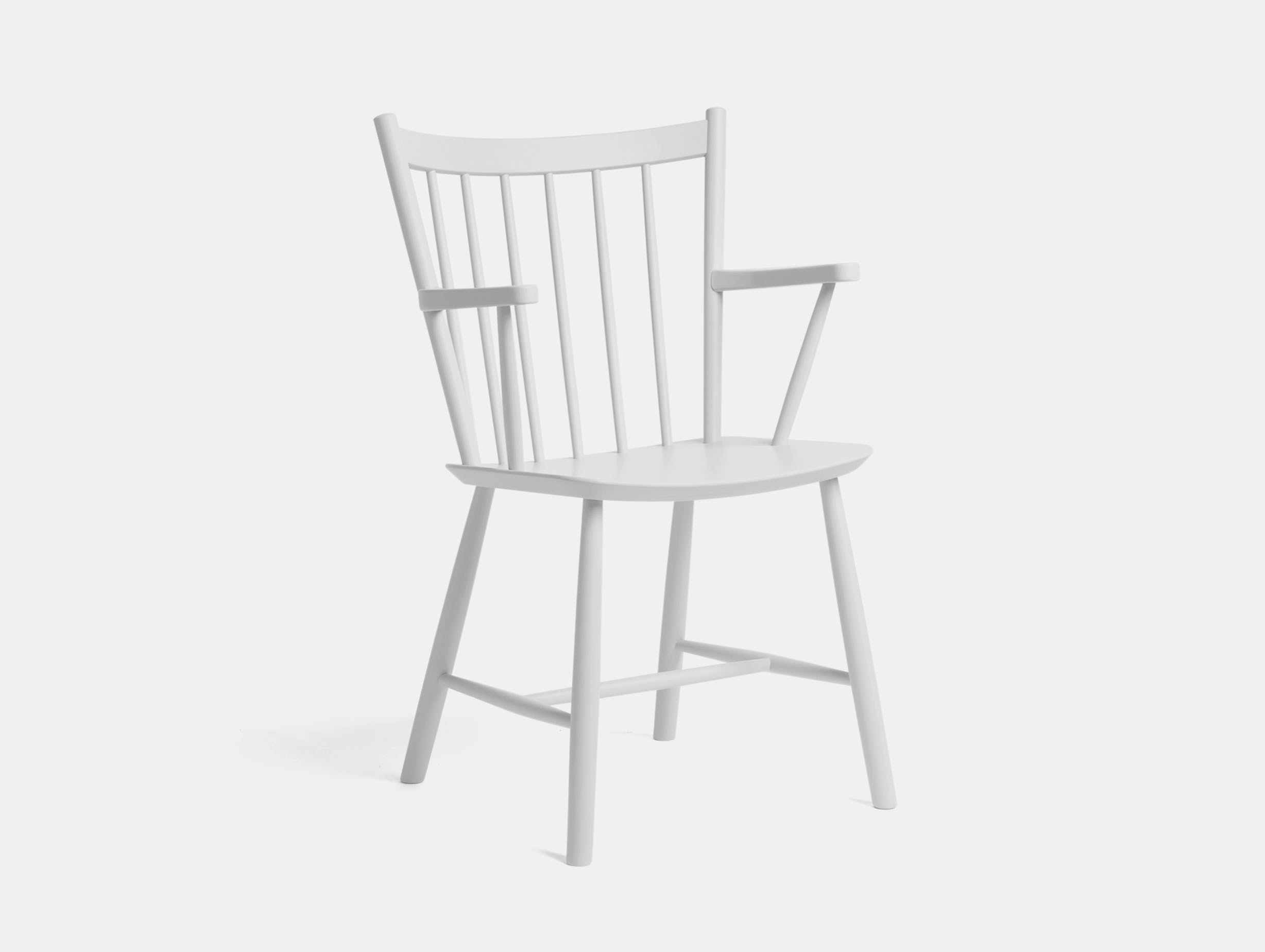 Hay J42 White Lacquered Beech Chair