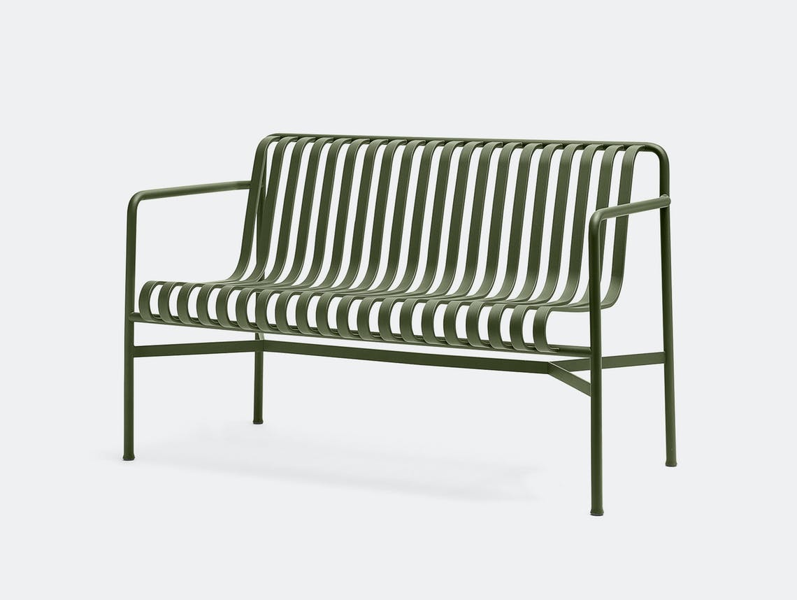 Hay Palissade Dining Bench Olive Green ct