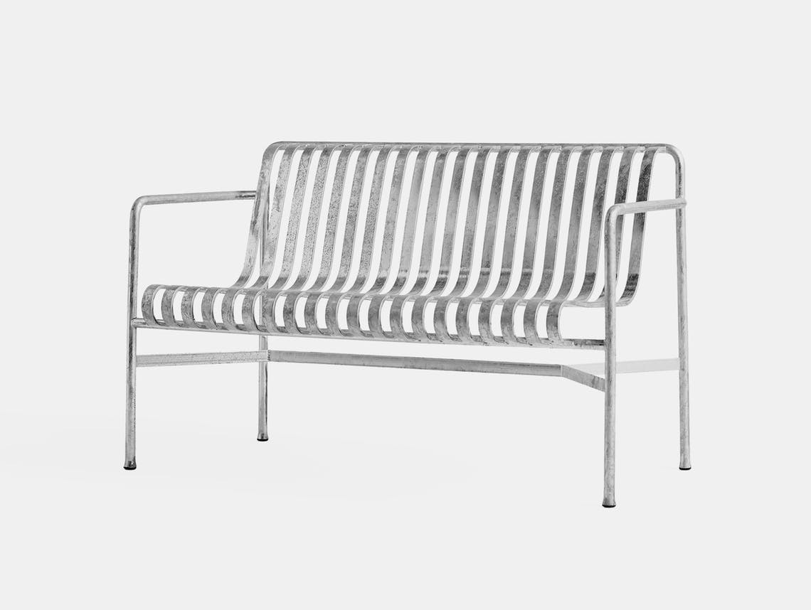 Hay Palissade Dining Bench hot galvanised ct