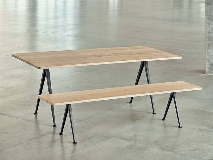 Hay Pyramid Table Bench Oak Wim Rietveld Friso Kramer