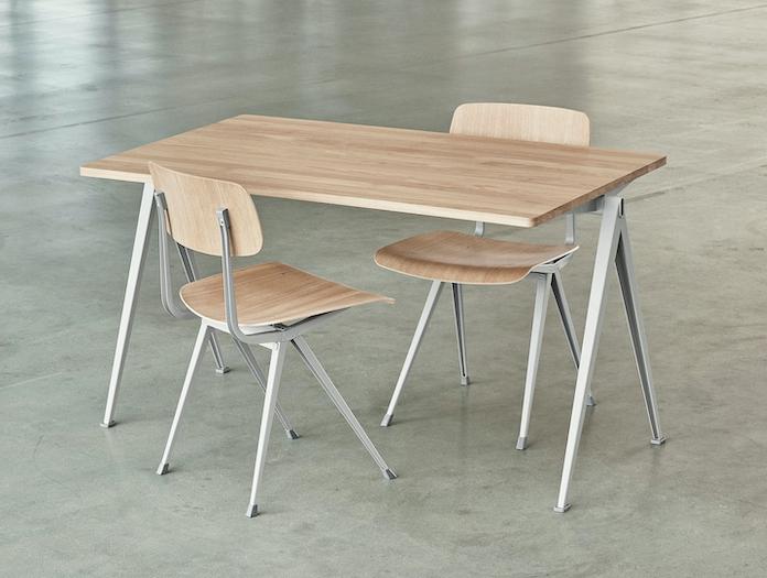 Hay Pyramid Table Result Chairs Oak Wim Rietveld Friso Kramer
