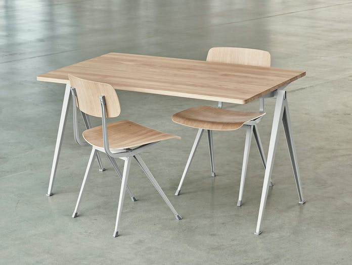 Hay Pyramid Table Result Chairs Oak Wim Rietveld Friso Kramer