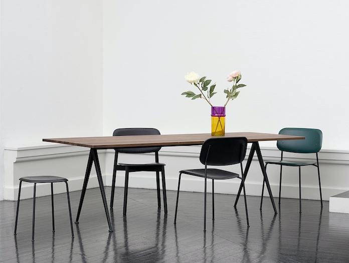 Hay Pyramid Table Soft Edge Chairs
