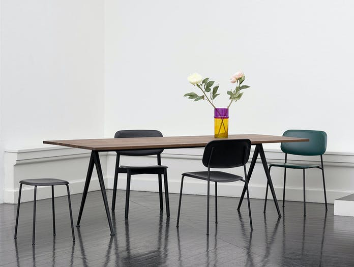 Hay Pyramid Table Soft Edge Chairs